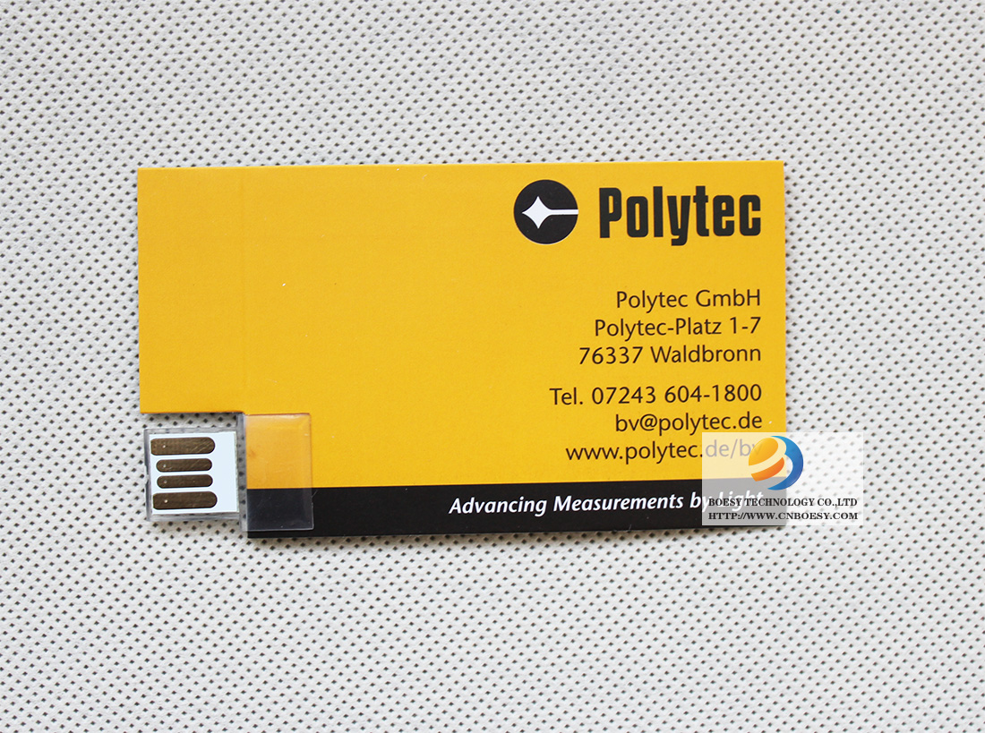 Business card paper USB webkeys pictures